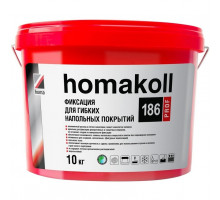 Клей-фиксатор для гибких напольных покрытий Homakoll 186 Prof, 10кг