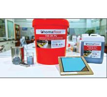 Двухкомпонентный полиуретановый состав для устройства бесшовных наливных полов Homafloor 720, 25кг